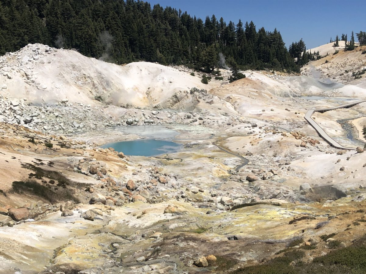 Sulfur exiting the Earth at Bumpass Hell